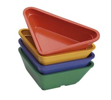GET Forest Green Melamine 2 Oz. Triangle Ramekin - 3