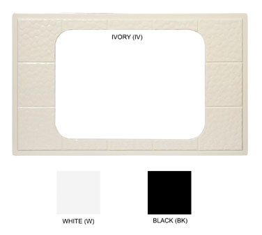 GET Full-Size Ivory Tile With 1-Cut Out For ML-178 - 21-1/2