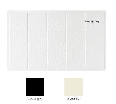 "G.E.T. Enterprises ML-160-IV Full Size Ivory Melamine Solid Tile Cut Outs 21-1/2"" x 13"""