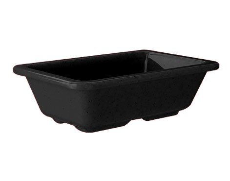 "G.E.T. Enterprises ML-123-BK Milano Black Melamine 4 oz. Side Dish 3"" x 4-3/4"""