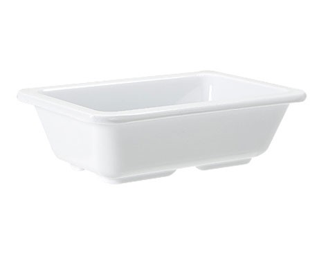 "G.E.T. Enterprises ML-123-W Milano White Melamine 4 oz. Side Dish 3"" x 4-3/4"""
