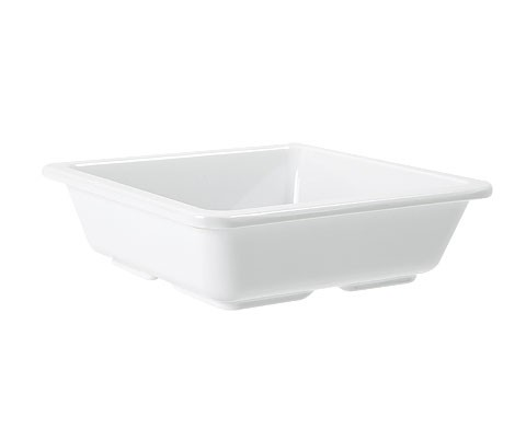 "G.E.T. Enterprises ML-122-W Milano White Melamine 6 oz. Side Dish 4-3/4"" x 4-3/4"""
