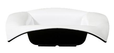 GET Geneva 4 Quart Black/White Melamine 16