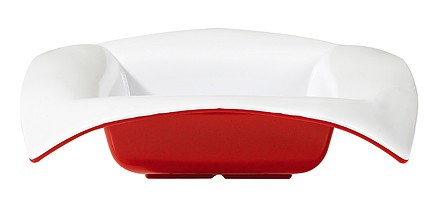 GET Geneva 4 Quart Red/White Melamine 16