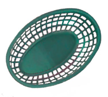 GET Green Polypropylene Oval Basket - 9-3/8