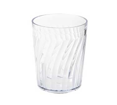 GET Hard Clear Plastic 6 Oz. Tahiti Textured Rocks Tumbler