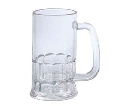 G.E.T. Enterprises 00084-1-SAN-CL SAN Plastic 12 oz. Beer Mug