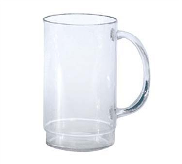 G.E.T. Enterprises 00083-1-SAN-CL SAN Plastic 20 oz. Beer Mug