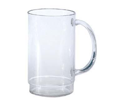 G.E.T. Enterprises 00083-1-SAN-CL SAN Plastic 20 oz. Beer Mug