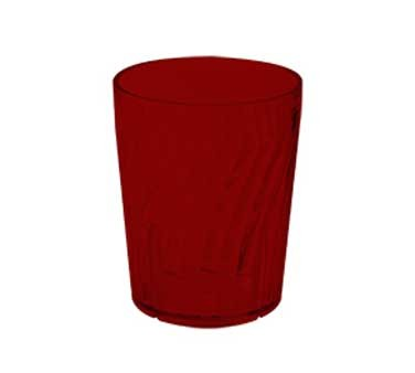 G.E.T. Enterprises 2206-1-R Hard Red Plastic 6 oz. Tahiti Textured Rocks Tumbler