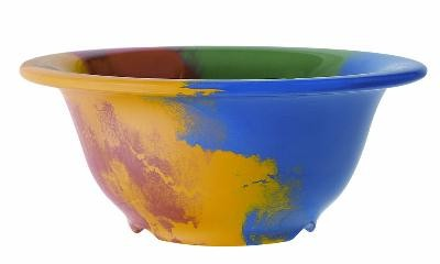 GET Heavy Glaze Melamine 10 Oz. Diamond Celebration Bowl - 5-3/8