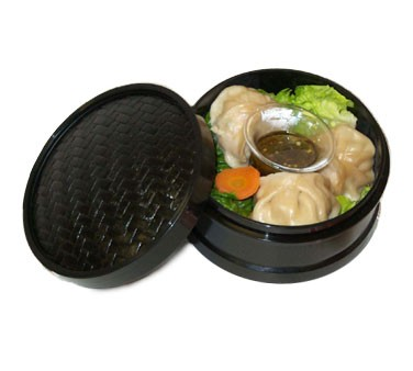 GET Hidden Treasures Black Melamine Steamer Set - 8-1/2