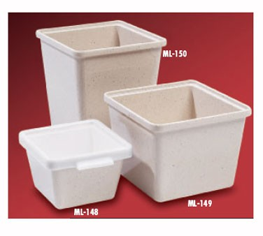 "G.E.T. Enterprises ML-148-IR Ironstone Melamine 28 oz. Square Salad Crock 4-3/4"" x 4-3/4"""