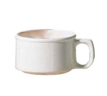 GET Ivory11 Oz. Full Rim Soup Mug With Handle - 4