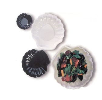 GET Let's Party Black Melamine Shell-Inspired Plate - 12