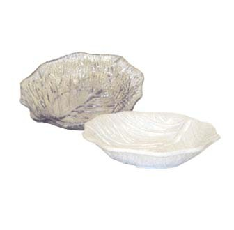 GET Let's Party Clear SAN Plastic Leaf Plate - 9