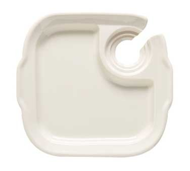 GET Let's Party Melamine Ivory Plate With Drink Slot - 9-3/4