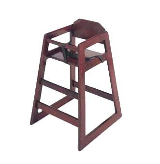 G.E.T. Enterprises HC-100M-1 Mahogany Finish Hardwood High Chair - Assembled