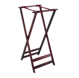 GET Mahogany Hardwood High Tray Stand - 38