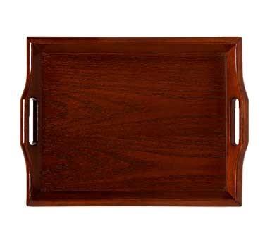"G.E.T. Enterprises RST-1814-M Mahogany Hardwood Room Service Tray 18"" x 14"""
