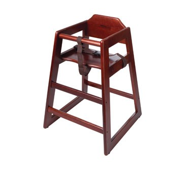 G.E.T. Enterprises HC-100M-P Mahogany Hardwood Palletized High Chair - Assembled