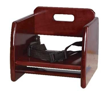G.E.T. Enterprises BS-200-M Mahogany Wooden Booster Seat with Straps