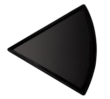 "G.E.T. Enterprises PZ-85-BK Creative Table Melamine Black Triangle Pizza Plate 8-3/4"" x 9"""