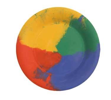 GET Mardi Gras Celebration Melamine Wide Rim Plate - 7-1/2