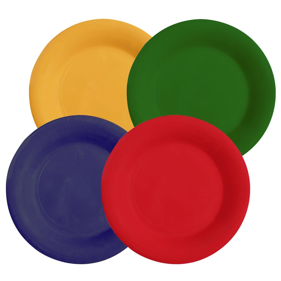 GET Mardi Gras Mix Celebration Melamine Wide Rim Plate - 9