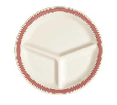 """G.E.T. Enterprises CP-10-Ox Diamond Oxford 3-Compartment Plate 10-1/4"""""""