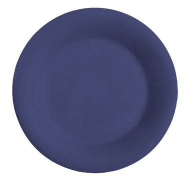 G.E.T. Enterprises WP-10-PB Diamond Mardi Gras Peacock Blue Melamine Wide Rim Plate 10-1/2""