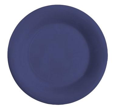 GET Mardi Gras Peacock Blue Melamine Wide Rim Plate - 12