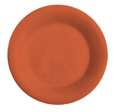 GET Mardi Gras Rio Orange Melamine Wide Rim Plate - 5-1/2