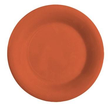 "G.E.T. Enterprises WP-7-RO Diamond Mardi Gras Rio Orange Melamine Wide Rim Plate 7-1/2"""