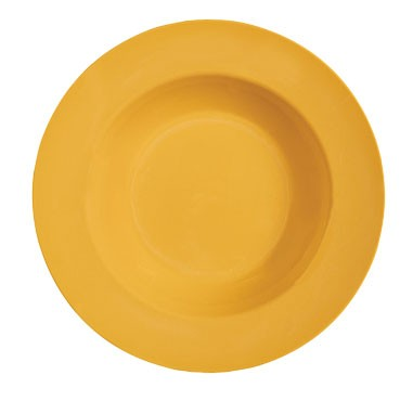 GET Mardi Gras Tropical Yellow 16 Oz. Melamine Soup Bowl - 11