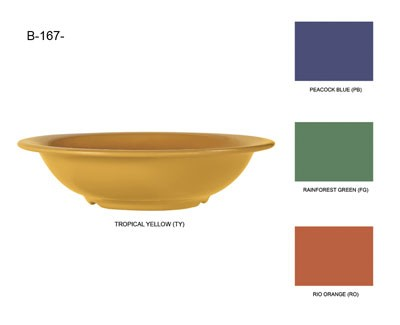 G.E.T. Enterprises B-167-TY Diamond Mardi Gras Tropical Yellow 16 oz. Melamine Bowl