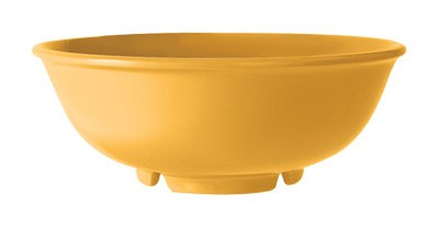 GET Mardi Gras Tropical Yellow 24 Oz. Melamine Salad Bowl - 7-1/2