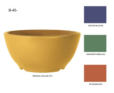 GET Mardi Gras Tropical Yellow 10 Oz. Melamine Soup Bowl - 4-1/2