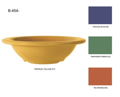 GET Mardi Gras Tropical Yellow 4-1/2 Oz. Rimmed Bowl - 4-3/4