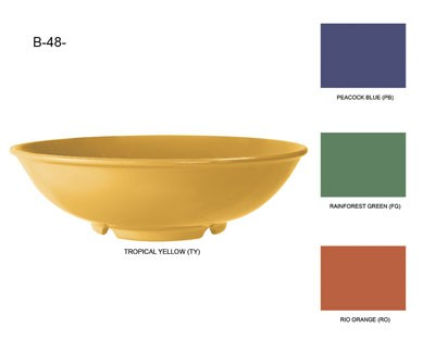 GET Mardi Gras Tropical Yellow 48 Oz. Pasta Bowl - 9-3/4