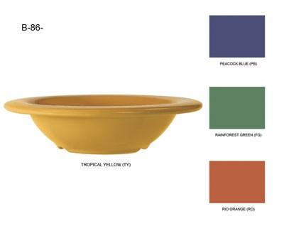 G.E.T. Enterprises B-86-TY Diamond Mardi Gras Tropical Yellow 8 oz. Melamine Bowl