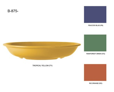 GET Mardi Gras Tropical Yellow 30 Oz. Melamine Salad Bowl - 8-1/2