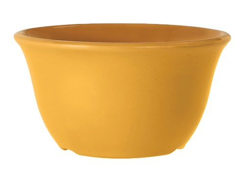 G.E.T. Enterprises BC-70-TY Diamond Mardi Gras Tropical Yellow 7 oz. Melamine Bouillon Cup