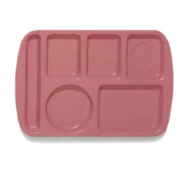 GET Mauve 6-Section Left-Hand Melamine School Tray - 14.75