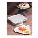 "G.E.T. Enterprises HI-2009-BK Mediterranean Black Polycarbonate Square Plate 12"" x 12"""