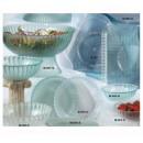 """G.E.T. Enterprises HI-2009-CL Mediterranean Clear Polycarbonate Square Plate 12"""" x 12"""""""