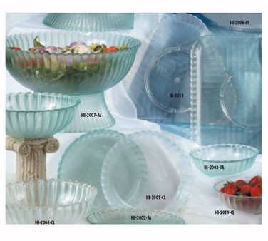 GET Mediterranean Clear Polycarbonate Square Plate - 12