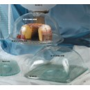G.E.T. Enterprises HI-2012-CL Mediterranean Clear SAN Plastic Square Dome Cover for HI-2009