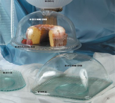 G.E.T. Enterprises HI-2013-CL Mediterranean Clear SAN Plastic Round Dome Cover for HI-2010