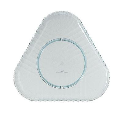 GET Mediterranean Jade Polycarbonate Triangular Platter - 12